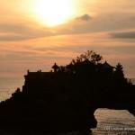 Coucher de soleil sur Tanah Lot