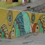 Murette décorée dans Valparaiso